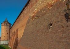 Antyczny forteca, izoluje, góruje, i ruiny Zdjęcie Royalty Free