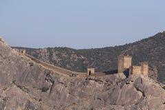 Antyczny forteca od morza fotografia royalty free