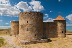 Antyczny forteca w Belgorod Dniester trzy wieże Obrazy Stock