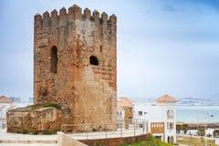 Antyczny fortecy wierza w Tangier, Maroko fotografia royalty free