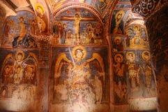 Antyczny fresk w goreme, Cappadocia Obrazy Stock