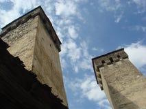 Antyczny góruje Svaneti zdjęcie royalty free