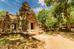 Antyczny gopura Ta Som świątynia Angkor, Siem Przeprowadza żniwa, Kambodża Zdjęcia Stock