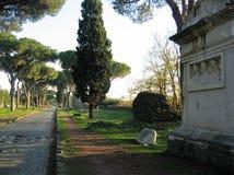 Antyczny grób na antycznym Appian sposobie Rzym w Włochy obrazy royalty free