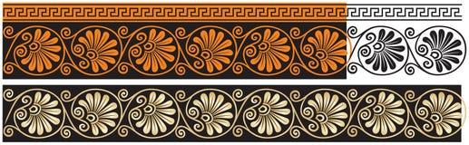 Antyczny Grecja wektorowy klasyczny ornament 2, akant, meander, wystrój zdjęcie stock