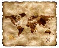 antyczny grunge mapy papier Zdjęcia Stock