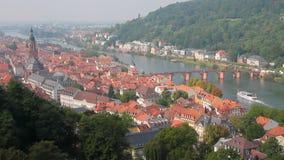 antyczny Heidelberg, Ziemski Baden-WÃ ¼ rttemberg, Niemcy zbiory wideo