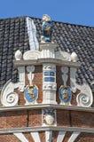 Antyczny Holenderski urząd miasta w Hoorn Obrazy Royalty Free