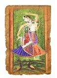 Antyczny Indiański obrazek zdjęcia stock