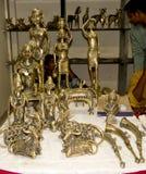 Antyczny indianina styl Rzeźbi lub statuy mosiądz fotografia royalty free