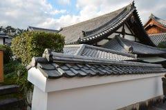 Antyczny japończyka dach zdjęcia royalty free