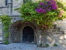 Antyczny jard w Rhodes, Grecja Zdjęcie Stock