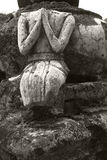 Antyczny kamień rzeźbi żadny głowę w świątyni Zdjęcia Royalty Free
