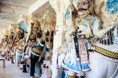 Antyczny kamień wyginać się rzeźby Hinduscy bóg i bogini Zdjęcia Royalty Free