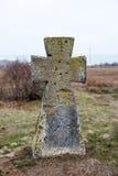 Antyczny kamienia krzyża neer czerń Widzii Obrazy Royalty Free