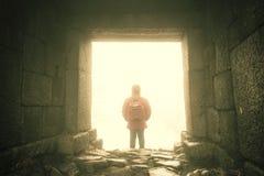 Antyczny kamienny drzwi Zdjęcia Stock