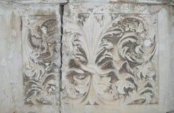 Antyczny kamienny kwiatu wzór, tekstura Zdjęcie Royalty Free