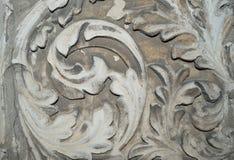 Antyczny kamienny kwiatu wzór, tekstura Zdjęcia Royalty Free