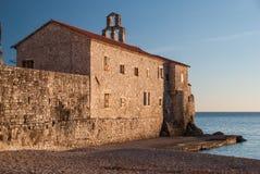 Antyczny kamienny miasteczko morzem obraz royalty free