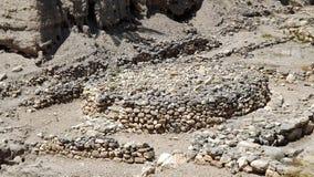 Antyczny kamienny ołtarz w Tel Megiddo Izrael Obrazy Stock