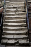 Antyczny kamienny schody Zdjęcie Stock