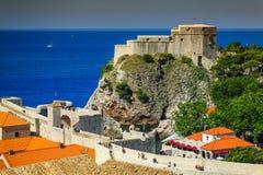 Antyczny kasztel Dubrovnik z spektakularnym deptakiem, Chorwacja, Europa zdjęcie royalty free