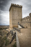 Antyczny kasztel Peñaranda de Duero, Burgos Zdjęcie Stock