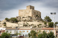 Antyczny kasztel Petrer miasteczko - prowincja Alicante, Hiszpania - Obraz Royalty Free