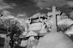 Antyczny katolicki cmentarz Obraz Stock