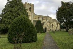 Antyczny kościół Święta trójca w Wielkim Paxton, Cambridgeshire Anglia Obrazy Stock