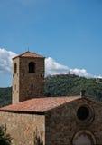 Antyczny kościół i steeple Zdjęcia Royalty Free