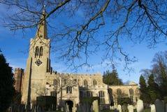 Antyczny kościół St Maryjny ` s w Buckden, Cambridgeshire Zdjęcie Stock