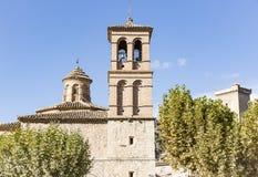 Antyczny kościół w Alhama De Aragon Obrazy Royalty Free