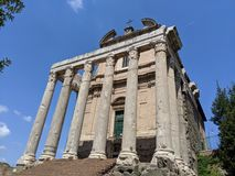 Antyczny kościół w Rzym przy Romańskim forum zdjęcie royalty free