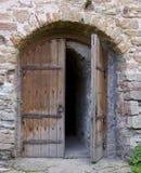 Antyczny kościelny drzwi obraz stock