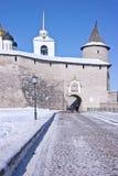 Antyczny Kremlin w mieście Pskov Fotografia Stock