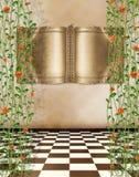 antyczny książkowy złocisty stary pokój Zdjęcia Stock
