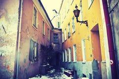 Antyczny kwadrat w starym grodzkim Tallinn Obraz Royalty Free