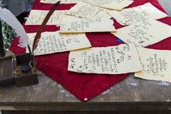 Antyczny list pisać ręką Fotografia Royalty Free