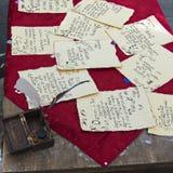 Antyczny list pisać ręką Fotografia Stock