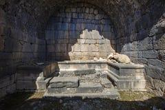 Antyczny Lycian miasto Arykanda Przegląd sala gimnastyczna kompleks obraz stock