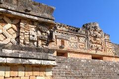 Antyczny majowia miasto Uxmal XIII Obrazy Stock