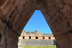 Antyczny majowia miasto Uxmal XXXVI Zdjęcia Royalty Free