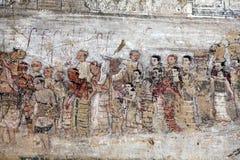 Antyczny malujący fresk, Myanmar fotografia royalty free