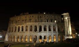 antyczny Marcellus noc Rome theatre Zdjęcia Royalty Free