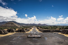 Antyczny meksykański miasto blisko Meksyk fotografia stock