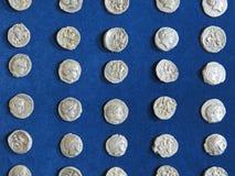 Antyczny menniczy skarb Stemplujący srebny round pieniądze zdjęcia stock