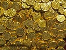 Antyczny menniczy skarb Stemplujący złoty round pieniądze fotografia royalty free