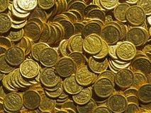 Antyczny menniczy skarb Stemplujący złoty round pieniądze obrazy royalty free