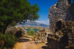 Antyczny miasteczko Butrint, Buthrotum - turystyczny przyciąganie w Albania obrazy royalty free